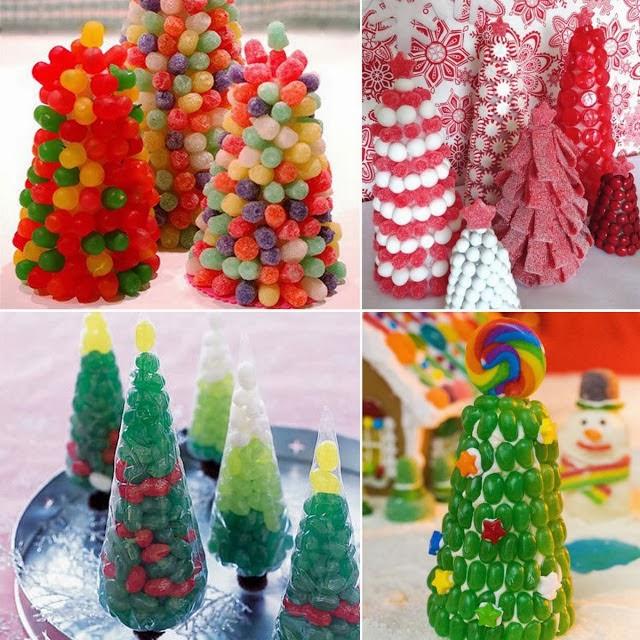 Favoloso Come realizzare degli alberelli di Natale con le caramelle | Il  JT79